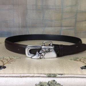 Vicenza Buckle Brown Leather Belt